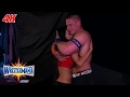 John Cena Nikki Bella share a moment after getting engaged WrestleMania 4K Exclusive, Apr 2, 2017