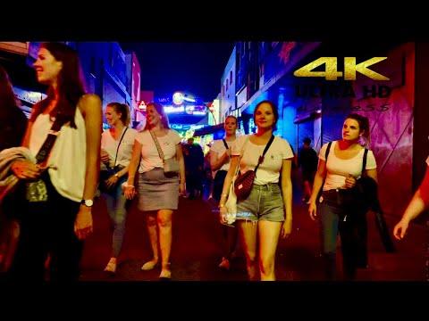 [4K HDR] Nightlife at Reeperbahn Red-light district. Hamburg city  Part 1. Germany 🇩🇪 2021