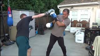 Father vs Son Sparring - Hapkido vs Boxing