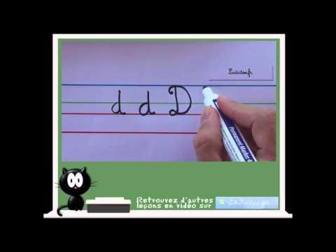 Alphabet cursif - comment écrire la lettre cursive D -  vidéo en langue française