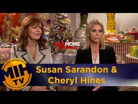 Susan Sarandon & Cheryl Hines A Bad Moms Christmas Uncut Interview