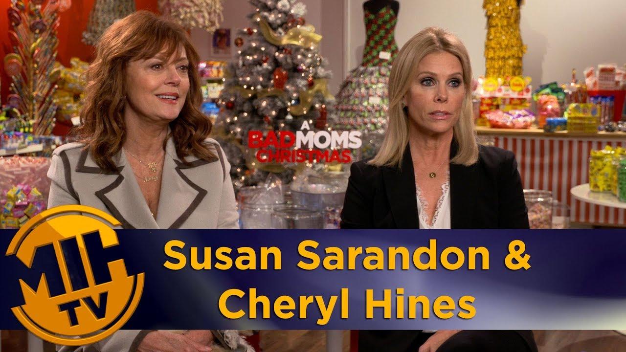 Bad Moms Christmas Susan Sarandon.Susan Sarandon Cheryl Hines A Bad Moms Christmas Uncut Interview