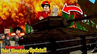 ROBLOX - ROBBING AN ARMY BASE WITH MY NEW DOG!!