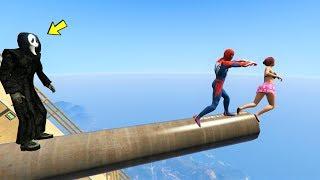 قراند 5 : لقطات مضحكة سبايدرمان والشبح🐸GTA 5 - Bay Bay Spiderman   Ragdolls Funny Moment