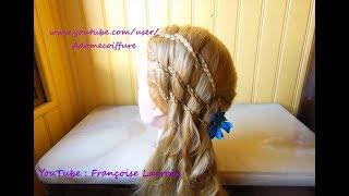 Tuto Coiffure facile Tresses en Cascade | Waterfall Braid Hairstyle | Peinado Trenzas en Cascada