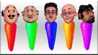 Motu Patlu Ghasitaram Carrot Colors Learn Colors Learn Balloons Blasting Finger Family Song