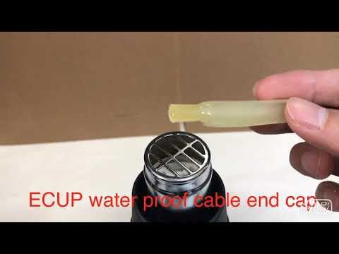 ECAP防水封帽,熱縮過程 ECUP Water Proof Cable End Cap