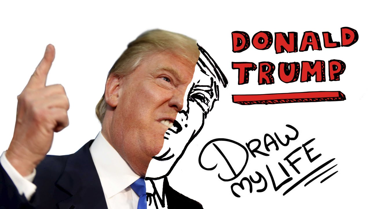 DONALD TRUMP | Draw My Life