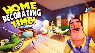 ULTIMATE HOUSE DECORATING IN HELLO NEIGHBOR BETA 3! | Hello Neighbor Beta 3 Gameplay