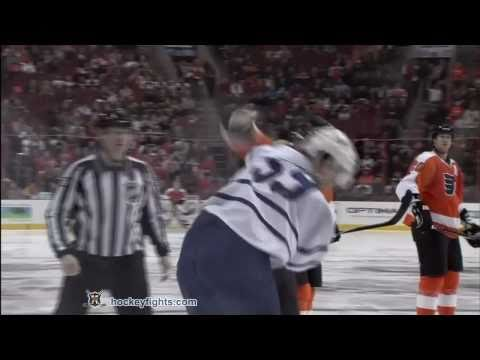 Keith Aulie vs Scott Hartnell Mar 3, 2011