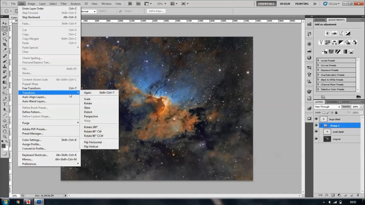 Creating an inset in Photoshop - Sara Wager Astrophotography