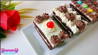 ১টা ডিম দিয়ে ৪পিস পেস্ট্রি কেক | pastry cake without beater and oven | 1 egg pastry cake |easy cake
