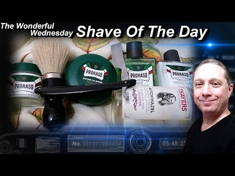 Magnetic Silver Steel Straight Razor Shave, Shave Of The Day, Proraso, Wonderful Wednesday #SOTD