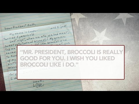 Kid's letter to former president about broccoli