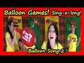 Balloon Songs Learn Colours -Blow Up Balloons until they BURST!  Balon Tiup Balon Patlaması Yarışı