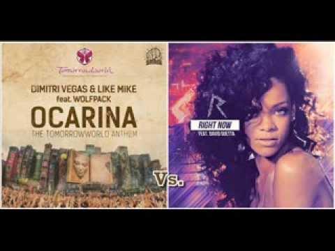 Rihanna vs. Dimitri Vegas & Like Mike ft. Wolfpack - Right Ocarina (Dj Sunset Bootup)