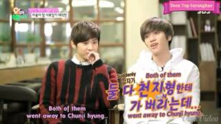 "[Sub Español] SBS now ""Oh My Baby"" parte 2 Teen Top (틴탑) - Niel (니엘) & Chunji (천지)"