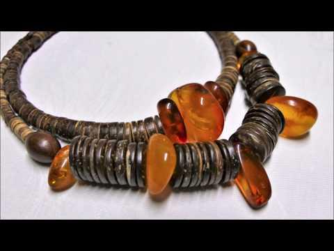 Новые украшения из янтаря от Марго