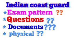Indian coast guard full details exam sllybus