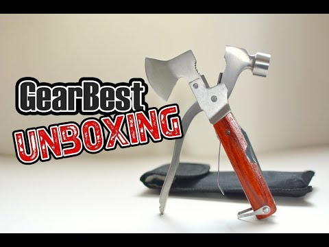 Unboxing Multifunction Outdoor Emergency Survival Kit – AXE from Gearbest.com