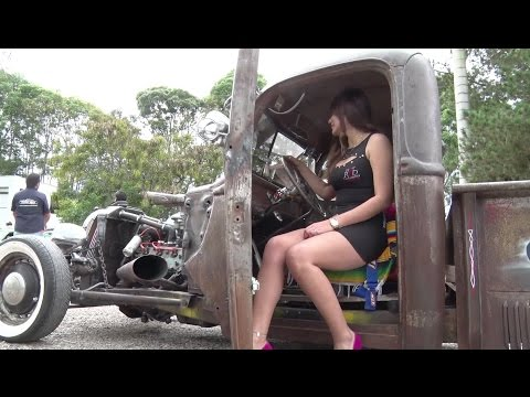 EL GARAGE TV  ARGENTINA - HOLY WHEELS  ENCUENTRO HOT ROD COLOMBIA RACING