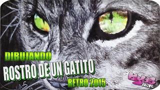 Retro 2015 Dibujando un GATO  || Drawing a CAT  | By Karina Aparicio.
