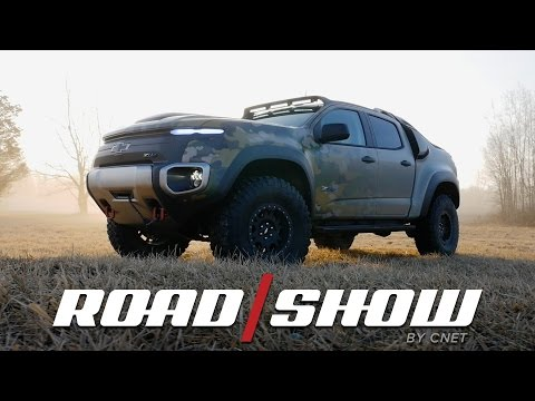 The Chevrolet Colorado ZH2 is a hydrogen-powered, off-road monster truck