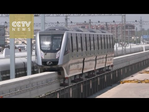 First China-developed maglev monorail train completes test run