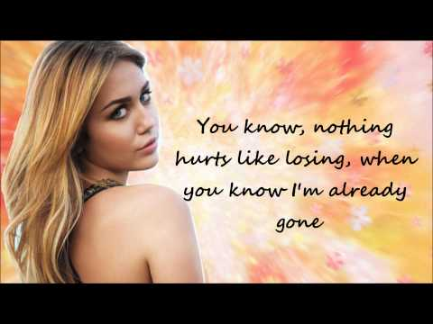 Miley Cyrus The Driveway [Lyrics On Screen]
