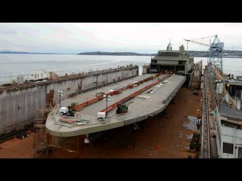 144-car ferry Tokitae construction time lapse