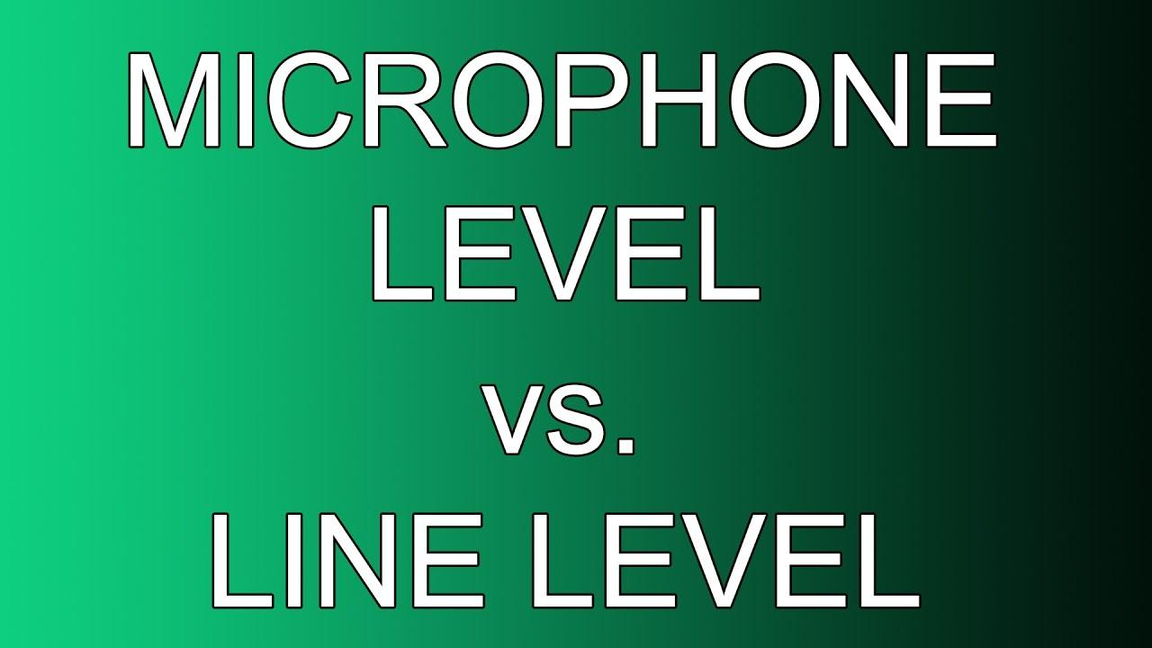 microphone level vs line level audio demonstration youtube. Black Bedroom Furniture Sets. Home Design Ideas