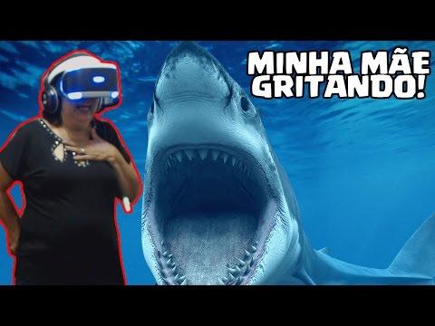 MINHA MÃE NÃO AGUENTOU A REALIDADE VIRTUAL! PLAYSTATION VR!