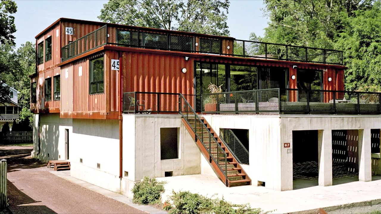 38 homes made from shipping containers youtube. Black Bedroom Furniture Sets. Home Design Ideas