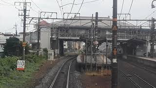 JR西日本前面展望高槻~京都(2019年10月14日月曜日)携帯電話で撮影