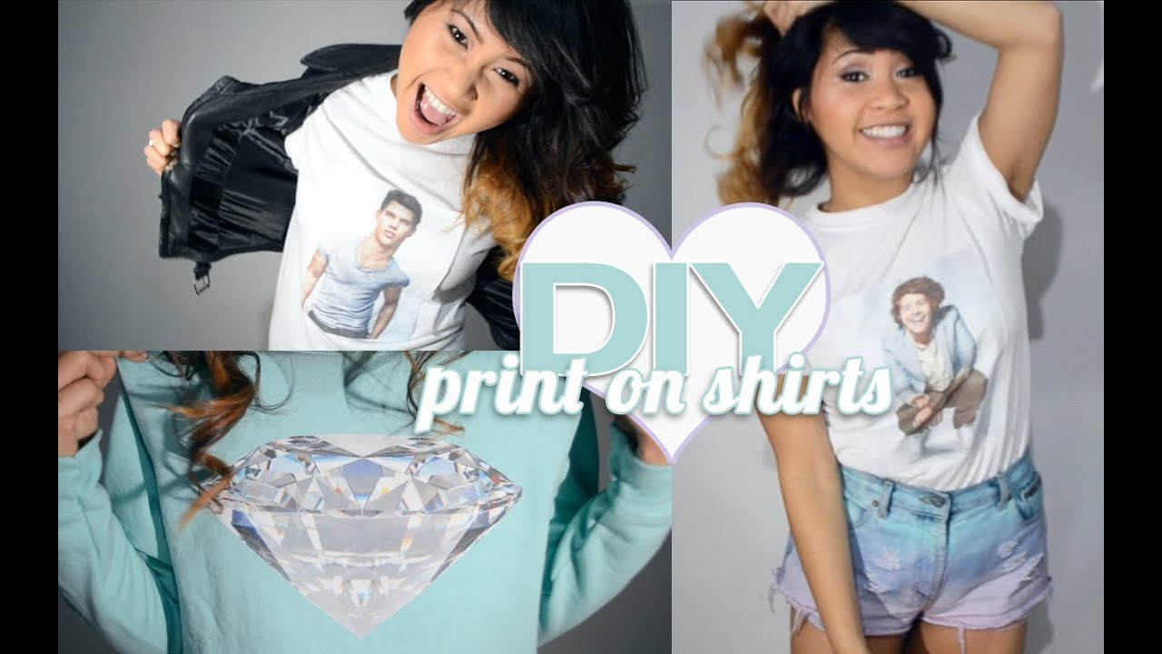 DIY ♥ How To Print Your Own T-Shirts & Sweatshirts At Home! - YouTube