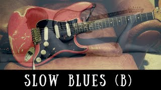 Slow Blues Jam | Sexy Guitar Backing Track (B)