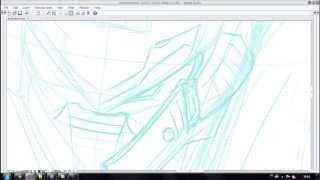 Desenhando ACC Power Armor Set Teste 1
