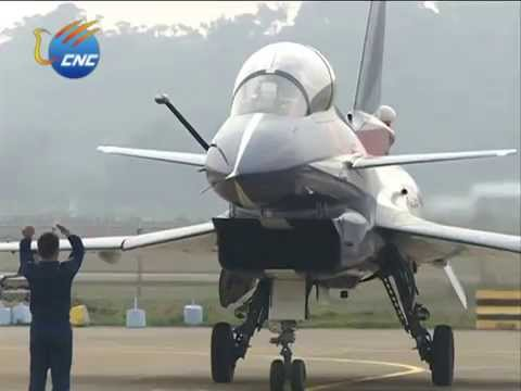 Zhuhai Air Show: J-10 jet fighters perform - YouTube