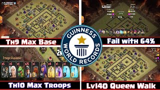 World Record Defence in Clash of Clans || Th10 Vs Th9 || Epic Battle || PaPeR BoaT GaminG