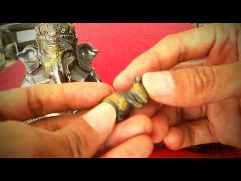 """Gorgeous 8.75"""" Tiger Eyes Ganesh Ganesha Carving Statue Buddha Amulet Antique"""