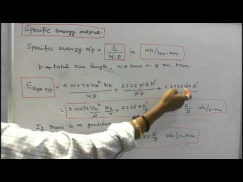ELECTRIC TRACTION - PART - 04 - ENERGY OUTPUT AND SPECIFIC ENERGY CONSUMPTION