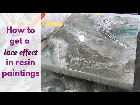 Resin painting lace effect