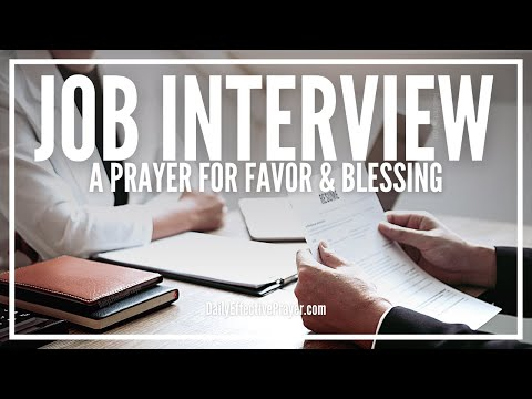 Prayer to get a job interview