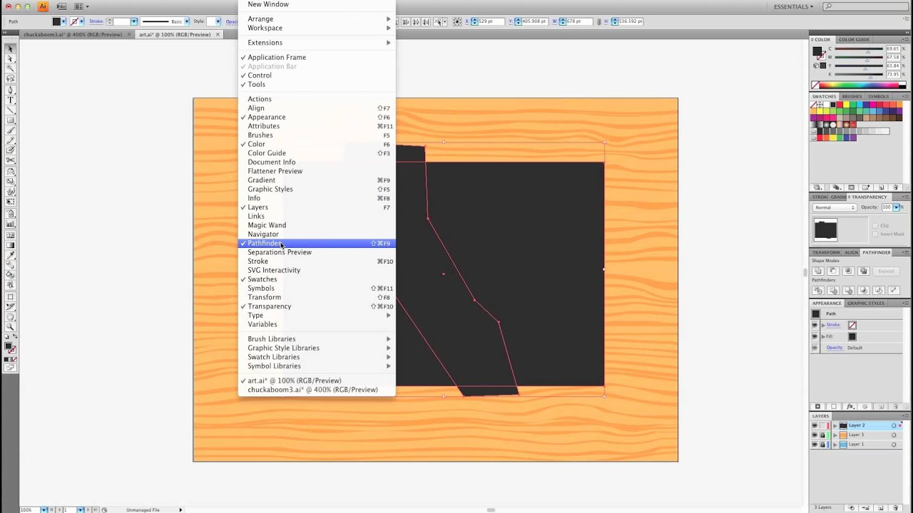How to make puzzle sections in adobe illustrator - YouTube