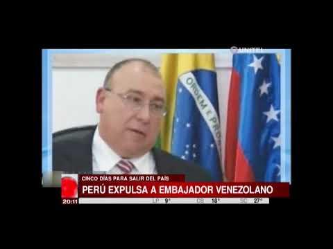 Perú: Expulsan al embajador de Venezuela y de plazo para que salga del país