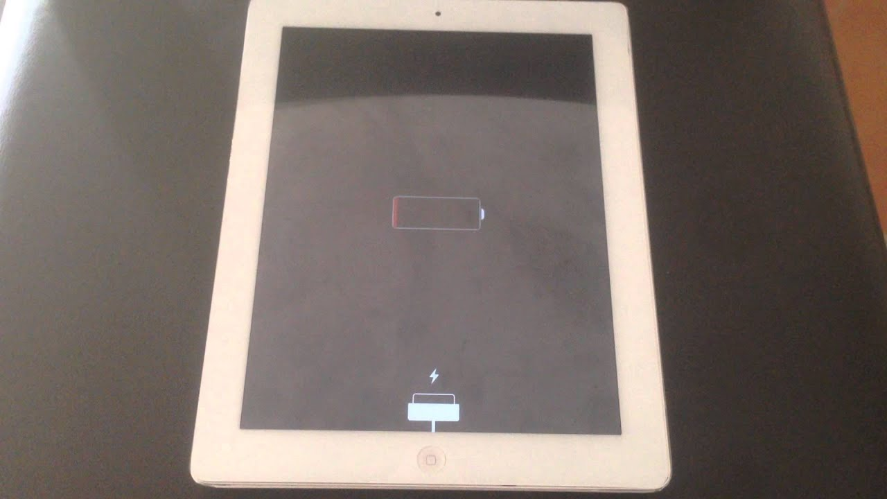 iPad 3 stuck in low/empty battery