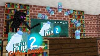 Monster School : BOTTLE FLIP CHALLENGE 2 - Minecraft Animation