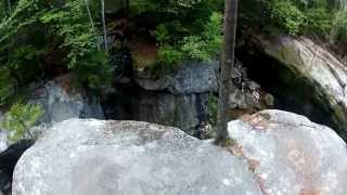 Idiot Jumps off of Cliff Into Shallow Water (Almost Breaks His Legs)