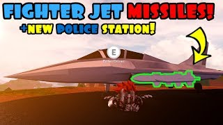 NEW FIGHTER JET MISSILES & POLICE STATION! Roblox JAILBREAK
