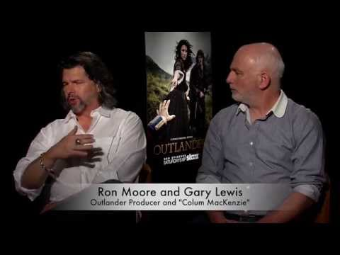 Outlander Producer Ron Moore and Gary Lewis (Colum MacKenzie)